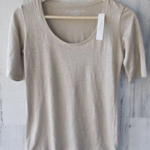 MAJESTIC Filatures Deluxe T-Shirt Taupe Beige 3/4